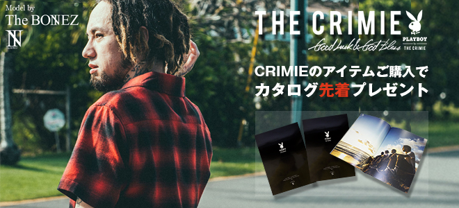 PLAYBOY×THE CRIMIEカタログ先着プレゼント!