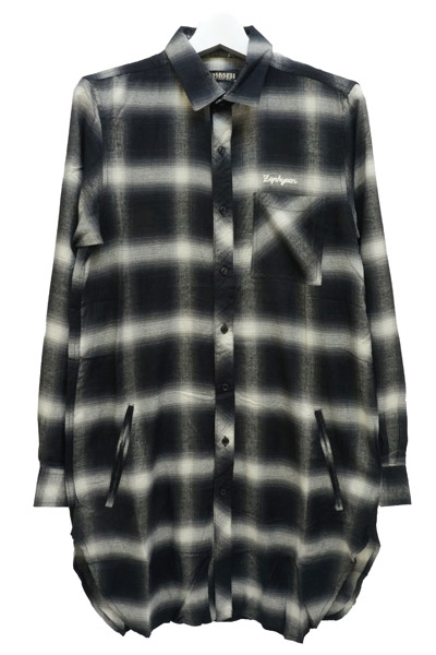Zephyren(ゼファレン) LONG CHECK SHIRT L/S BLACK