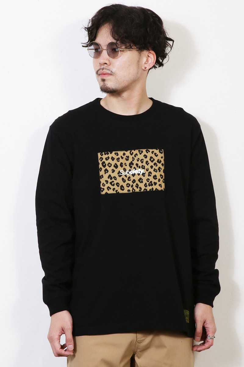 Subciety (サブサエティ) LEOPARD RATIO L/S BLACK