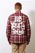 Subciety (サブサエティ) CHECK SHIRT -TAG- RED