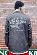 TOY MACHINE MARBLE PATTERN FIST COACH JACKET - BLACK