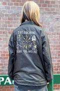 TOY MACHINE BURY THE HATCHET EMBROIDERY COACH JACKET - BLACK