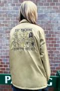 TOY MACHINE BURY THE HATCHET EMBROIDERY COACH JACKET - KHAKI