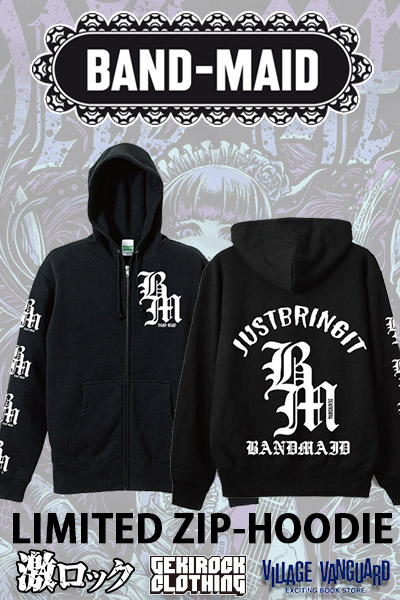 【限定デザイン】 BAND-MAID x deathsight ZIP UP HOODIE