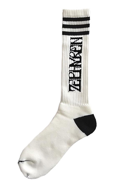 Zephyren (ゼファレン) GYM SOCKS  -VISIONARY - WHITE