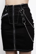 DISTURBIA CLOTHING Discord Skirt