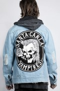DISTURBIA CLOTHING Lost Boys Denim Jacket Blue