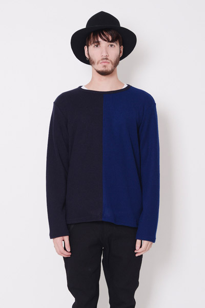 VIRGO 2FACE KNIT NVY/BLU
