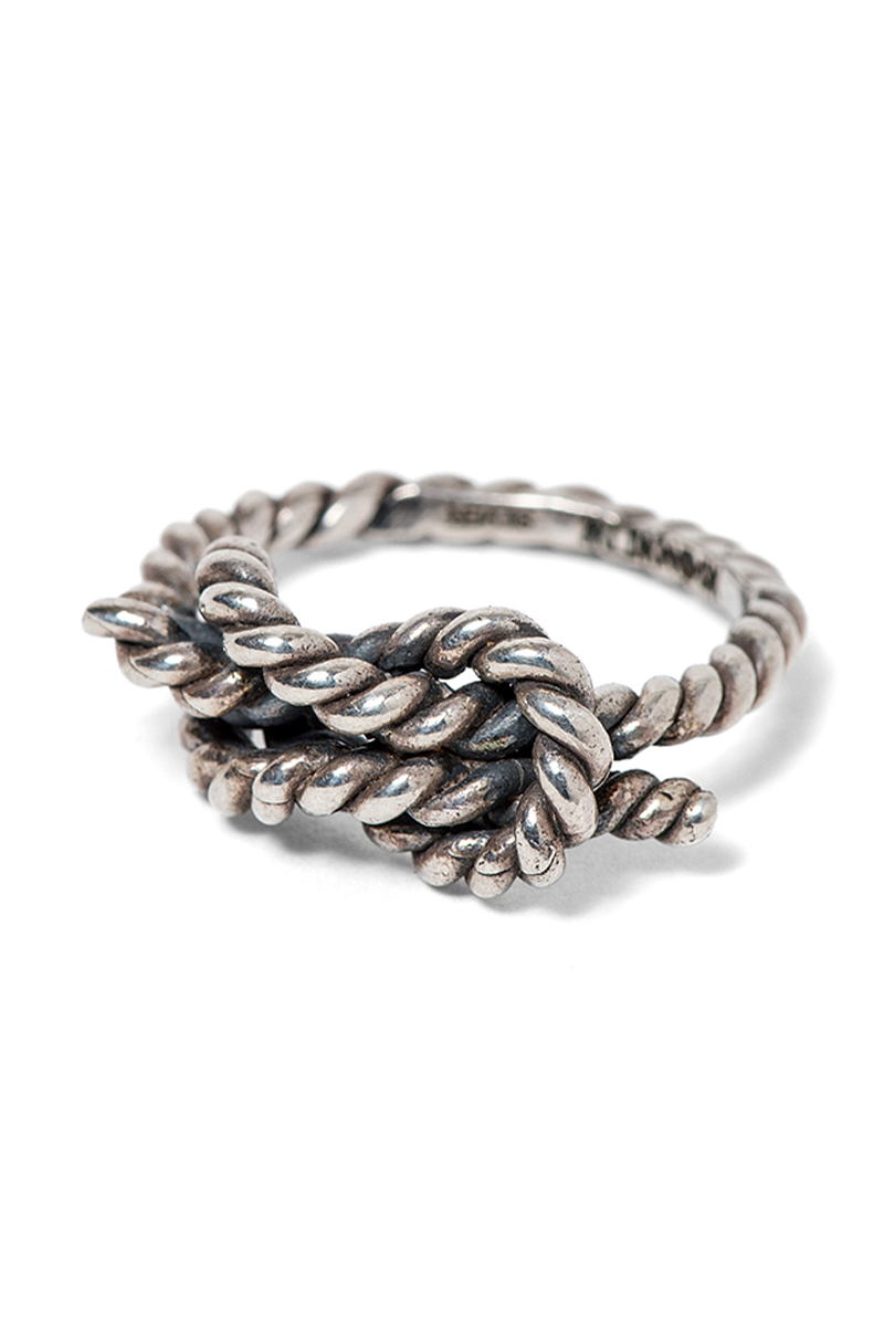 ANIMALIA REEF KNOT RING-SILVER925