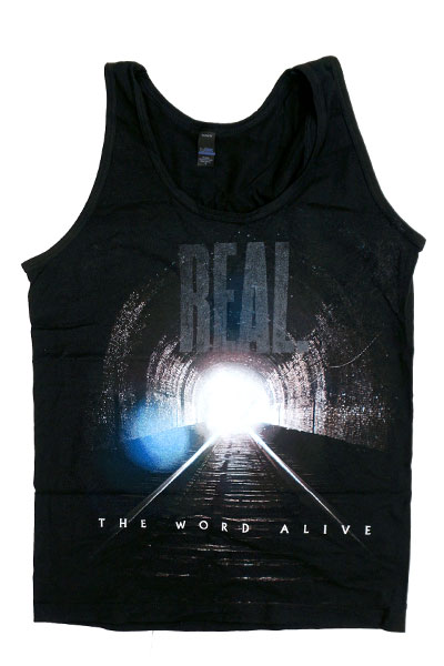 THE WORD ALIVE REAL. Album Art Black Tank Top