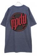 RIP DESIGN WORXX サークルロゴTシャツ NAVY/SALMON