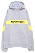TOY MACHINE TMP19SW10 TOYMONSTER LOGO SWEAT HALF ZIP PARKA GRAY