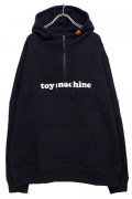 TOY MACHINE TMP19SW10 TOYMONSTER LOGO SWEAT HALF ZIP PARKA BLACK