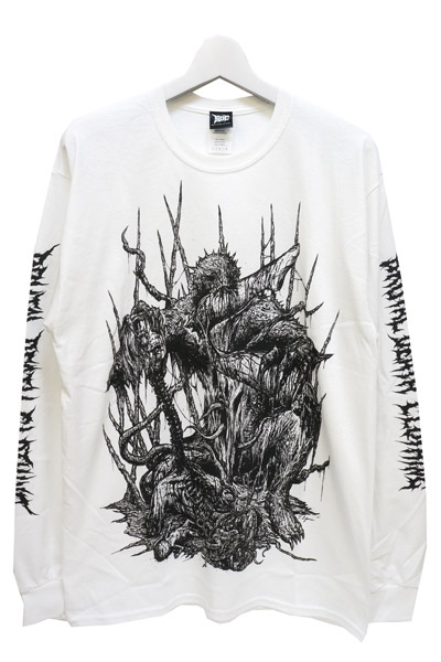 Gluttonous Slaughter (グラトナス・スローター) Feast of the Unbirthed (プリントカラー/黒)-ロンTシャツ