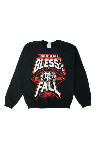BLESS THE FALL Hollow Bodies Black Crewneck Sweats