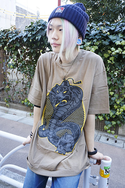 MISHKA (ミシカ) DEATH COBRA T-SHIRT SAFALI