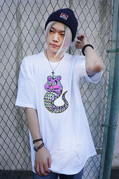 MISHKA (ミシカ) LAMOUR CARE ADDER T-SHIRT FL171118 WHT