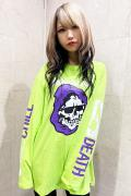 MISHKA 2 CHILL 4 DEATH LS TEE LIME