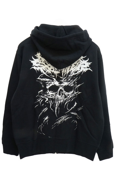 Gluttonous Slaughter (グラトナス・スローター) I Need You Dead Zip-UP HOODIE WHITE