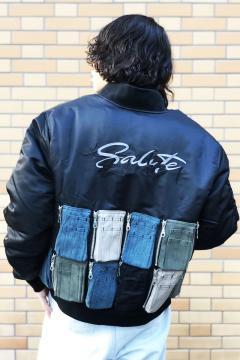 SALUTExEVAE bomber jacket