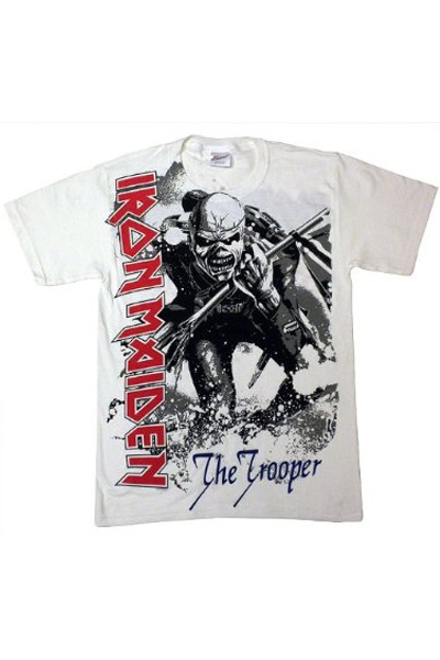 IRON MAIDEN OVERSIZED TROOPER Large Print T-Shirt