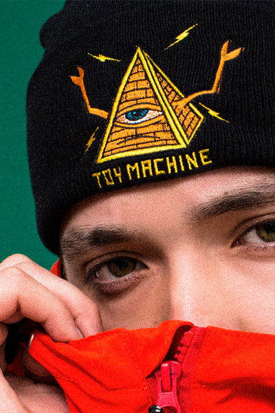 TOY MACHINE TMP18BN23 KNIT BEANIE BLACK