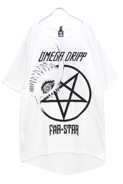 FAR★STAR×OMEGA DRIPP BIG T WHITE