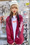 acOlaSia Camphell's コーチジャケット RED