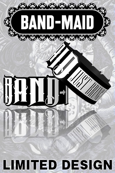 BAND-MAID x ゲキクロ LIMITED RUBBERBAND WHITE