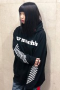 TOY MACHINE TMP19SW15 TOYMACHINE LOGO SWEAT PARKA BLACK