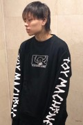 TOY MACHINE TMP19SW17 SQUARE MONSTER EMBRO SWEAT CREW BLACK