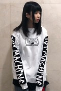 TOY MACHINE TMP19SW17 SQUARE MONSTER EMBRO SWEAT CREW WHITE