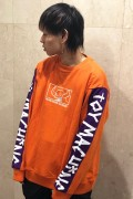TOY MACHINE TMP19SW17 SQUARE MONSTER EMBRO SWEAT CREW ORANGE
