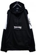 THRASHER TH5161 HOMETOWN/SK8GOAT ANORAK BLACK