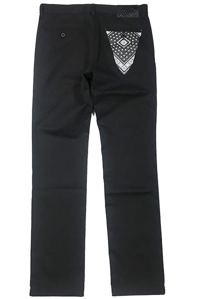 RUDIE'S PAISLEY WORK PANTS BLACK