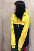 TOY MACHINE TMP19SW15 TOYMACHINE LOGO SWEAT PARKA YELLOW