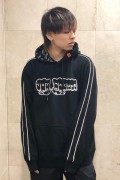 TOY MACHINE TMP19SW16 FIST EMBRO SWEAT PARKA BLACK
