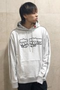 TOY MACHINE TMP19SW16 FIST EMBRO SWEAT PARKA GRAY