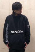 TOY MACHINE TMP19JK19 TAPE LOGO ANORAK JACKET BLACK