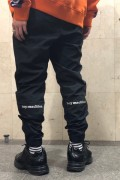 TOY MACHINE TMP19PT20 TOYMACHINE LOGO WIND PANTS BLACK
