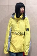TOY MACHINE TMP19JK19 TAPE LOGO ANORAK JACKET YELLOW