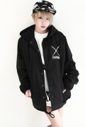 deathsight Hood Coach Jacket Black
