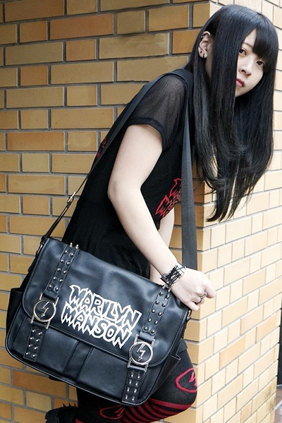MARILYN MANSON×KILL STAR CLOTHING Anthem Messenger Bag