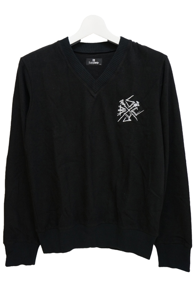 Subciety V NECK KNIT-New Jack- - BLACK