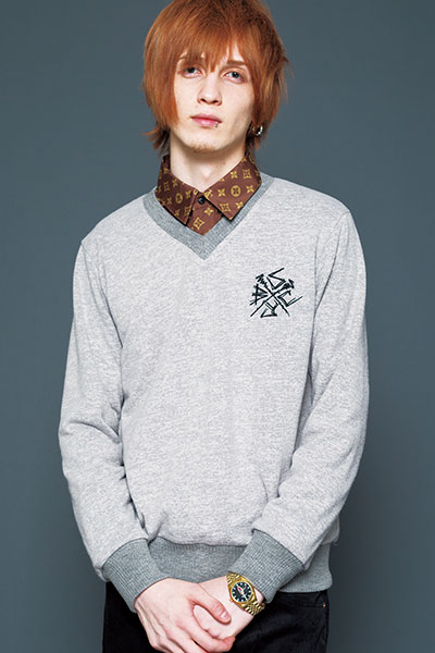 Subciety V NECK KNIT-New Jack- - GRAY