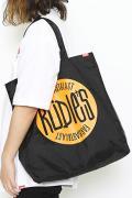 RUDIE'S DRAWING SHOPPING BAG BLACK/ORANGE