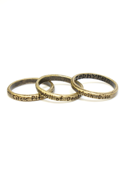 Zephyren(ゼファレン)TRINITY METAL RING ANTIQUE.GOLD