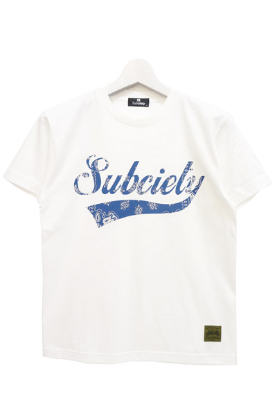 Subciety (サブサエティ) GLORIOUS S/S-BANDANNA- WHITE-BLUE