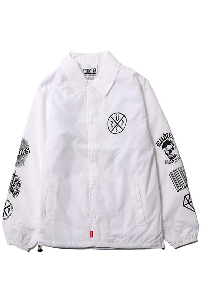 RUDIE'S CONFUSE COACH JACKET WHT