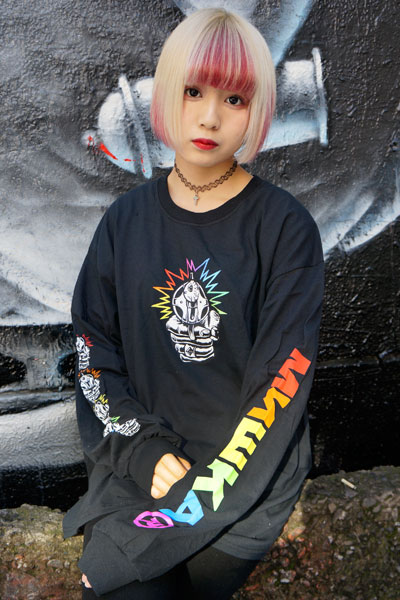 MISHKA(ミシカ) ENTANGLED KEEP WATCH L/S TEE (BLACK/FL171104LSWHT)